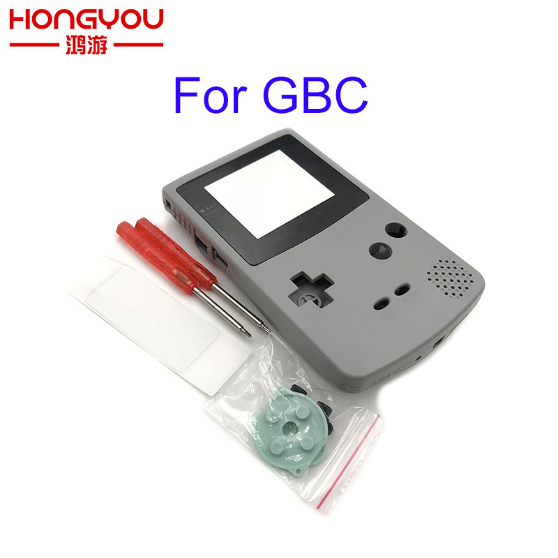 For GBC Gray Shell Case Replacement For Gameboy Color GBC Game Console Full Housing