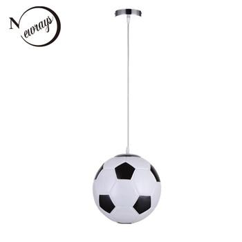 Modern novelty football glass pendant lamp LED E27 220V pendant Light Fixture For living room bedroom restaurant hallway kitchen