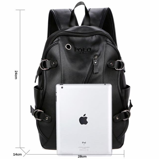 Leather Casual Backpack Bag