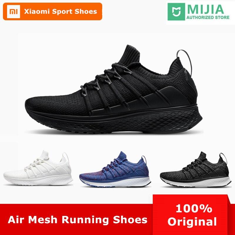 Оригинал Сяо mi Цзя Для мужчин Smart кроссовки 2 Открытый Спорт mi дышащие кроссовки Air Mesh Gym эластичные Вязание вамп теннис