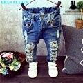 Líder urso Crianças Buraco Quebrado Calças Calças 2016 Do Bebê Das Meninas Dos Meninos Marca de Jeans Da Moda Outono 2-7Y Crianças Calças Roupas