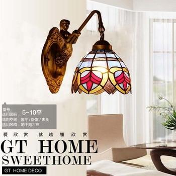 Spezielle wand lampe Mittelmeer gang balkon ecke treppen schlafzimmer nachttisch lampe Tiffany wand lampe