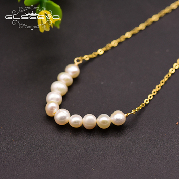 XlentAg 925 Sterling Silver Natural Fresh Water Pearl Pendant Necklace For Women Gift Wedding Party Fine Jewelry Collares GN0093