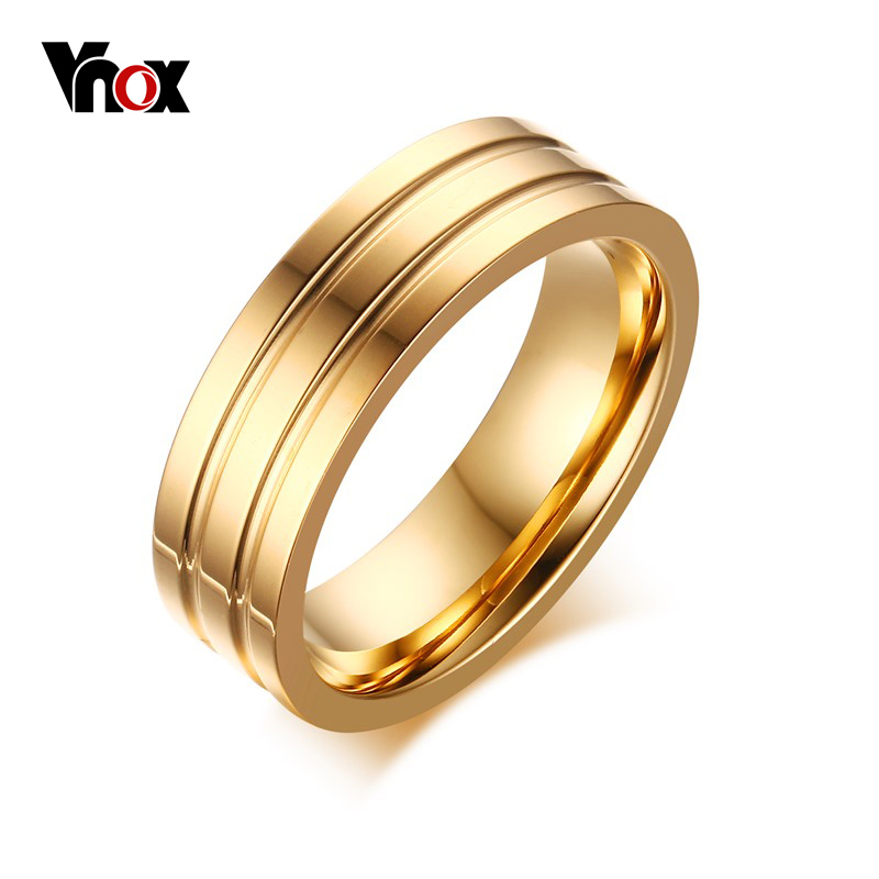 Vnox 6mm Engagement Rings High Polished Comfort Fit Traditional ...