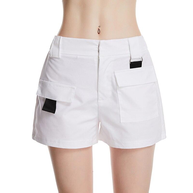 Summer Explosions Women'S Fashion Simple Women'S Casual Shorts Khaki High Waist Wild Big Pocket Shorts Women