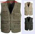 Summer Men's Plus Size XL-7XL  Jacket Denim Vest And Casual Multi-Pocket Waistcoat Men Hot Sale Sleeveless Jacket