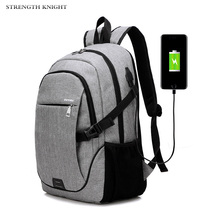 2019 New Fashion Men's Laptop Backpack Bag Brand Notebook USB Charging Mochila For Men Waterproof Back Pack Bag School Backpack new brand backpack 2015 mochila s05 backpack