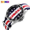 Горячая 2017 часы мужчины luxury brand Skmei Вскользь Спортивные Часы Женщины Мужчины Нейлон Ремешок Кварцевые Наручные Часы Relógio Masculino