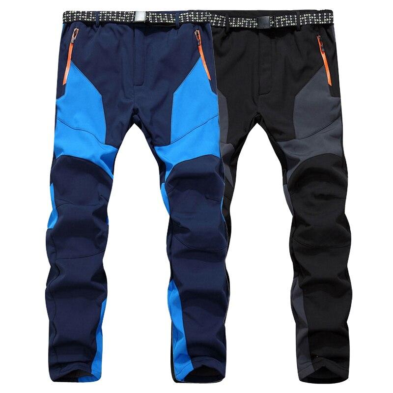 LoClimb Nuovo 2017 Inverno Softshell Pantaloni Da Trekking Uomini Trekking Pantaloni In Pile Caldo Impermeabile Per Sport All'aria Aperta Sci Arrampicata, AM193
