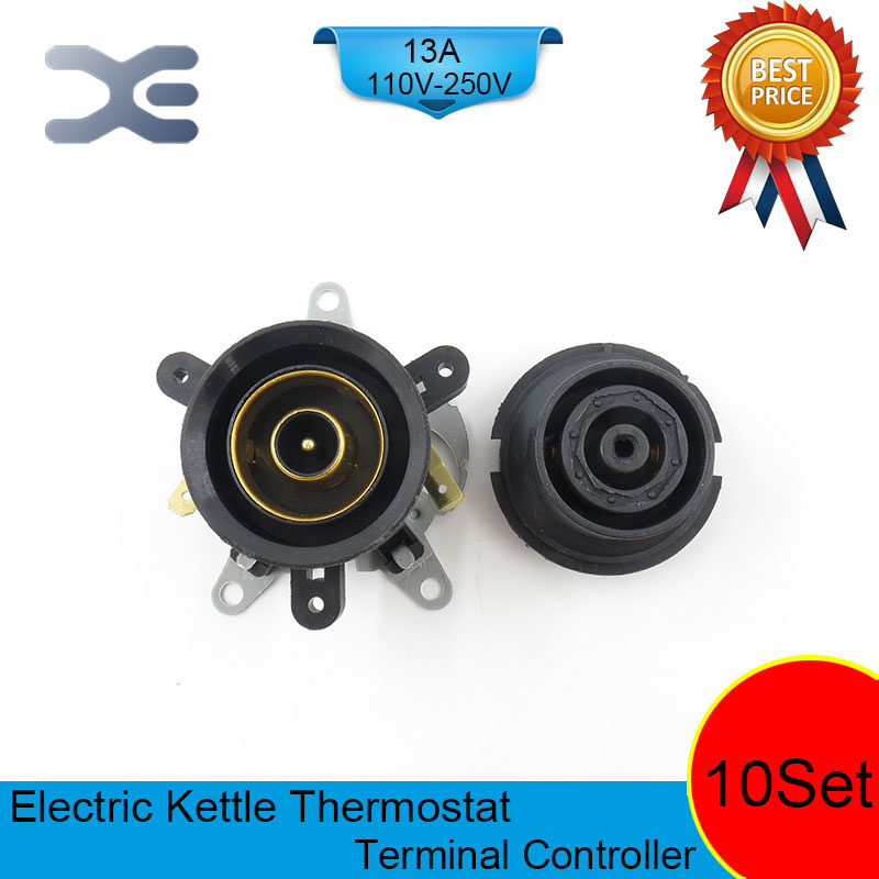 10set lot T125 13A 110 250V NC Terminal Controller New Kettle Thermostat Unused Spare Parts for