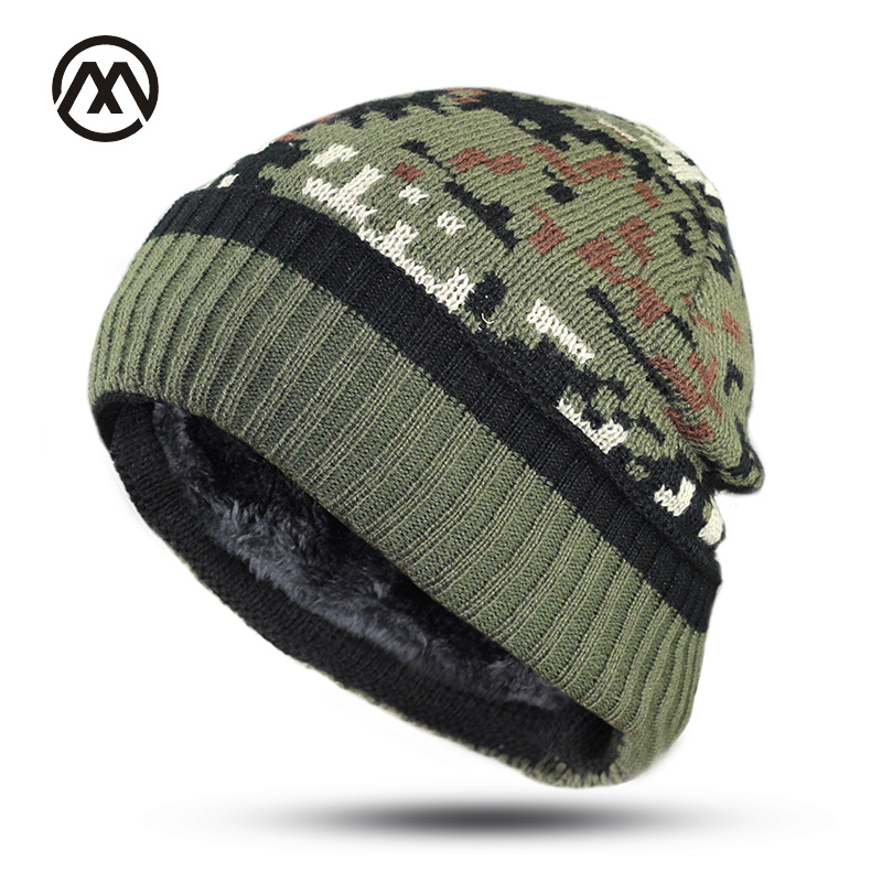 Beanies   Winter Hats For Men Bonnet Caps Brand outdoor Women Knit Military Hat Warm New Gorros Touca Camouflage   Skullies     Beanie