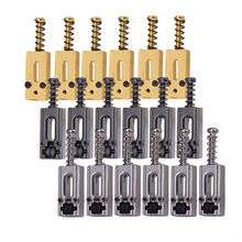 6 Pcs Guitar Roller Saddle Bridge String Saddles Set for Electric Replacement Parts