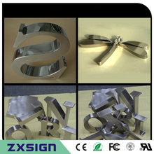 Brushed Letterings Sign Custom Factory-Outlet Stainless-Steel Outdoor Mirror Metal Finsihed