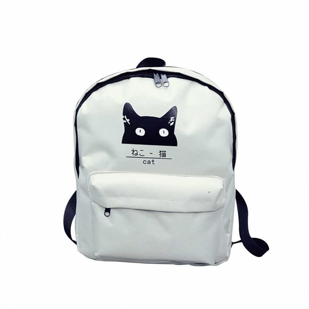 63c4df6d49d3 Cat canvas backpack cartoon rucksack women school backpack for teenager  woman backpack school bag travel backpacks