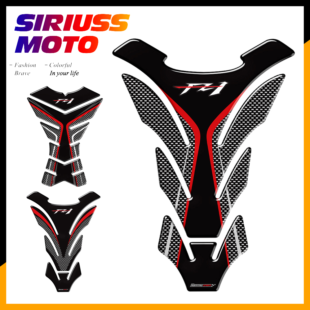 3D Carbon-look Motorcycle Tank Pad Protector Decal <font><b>Stickers</b></font> Case for Yamaha FZ1 <font><b>FZ</b></font> 1 FZ1N Tank image