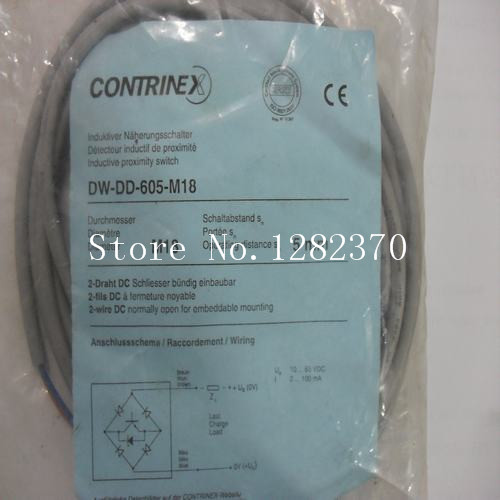 [SA] New original authentic special sales CONTRINEX proximity switches DW-DD-605-M18 spot --5pcs/lot dhl ems 5 pc contrinex proximity switch connector s12 4fvg 020