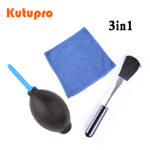 1x camera professional Lens Screen Cleaning Dust brush + dust blower+ Cloth Kit For Canon Nikon Sony DSLR Camera