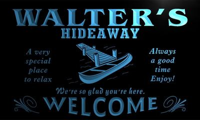 x0041-tm Walters Hideaway Boat Custom Personalized Name Neon Sign Wholesale Dropshipping On/Off Switch 7 Colors DHL