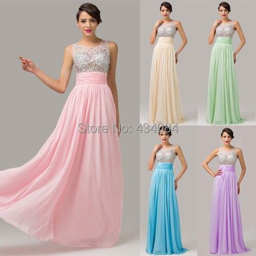 1074caee41fad Vestido De Festa Longo 6110 moldeado cristalino barato el Vestido largo  2016 recién llegado vestidos formales De noche Vestido Abendkleider 2015 en  Vestidos ...