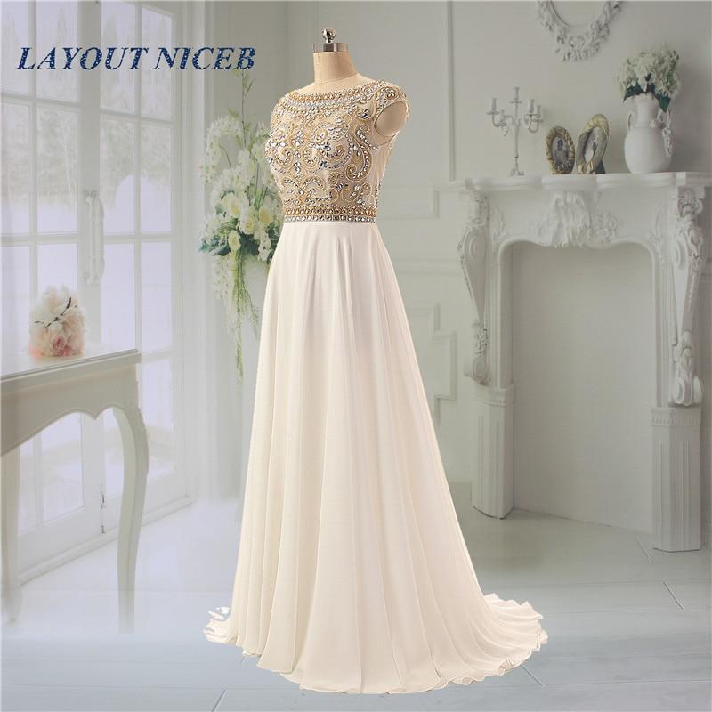 Sjajan vještački dijamant kuglice večernje haljine Scoop vratu - Haljina za posebne prigode - Foto 1