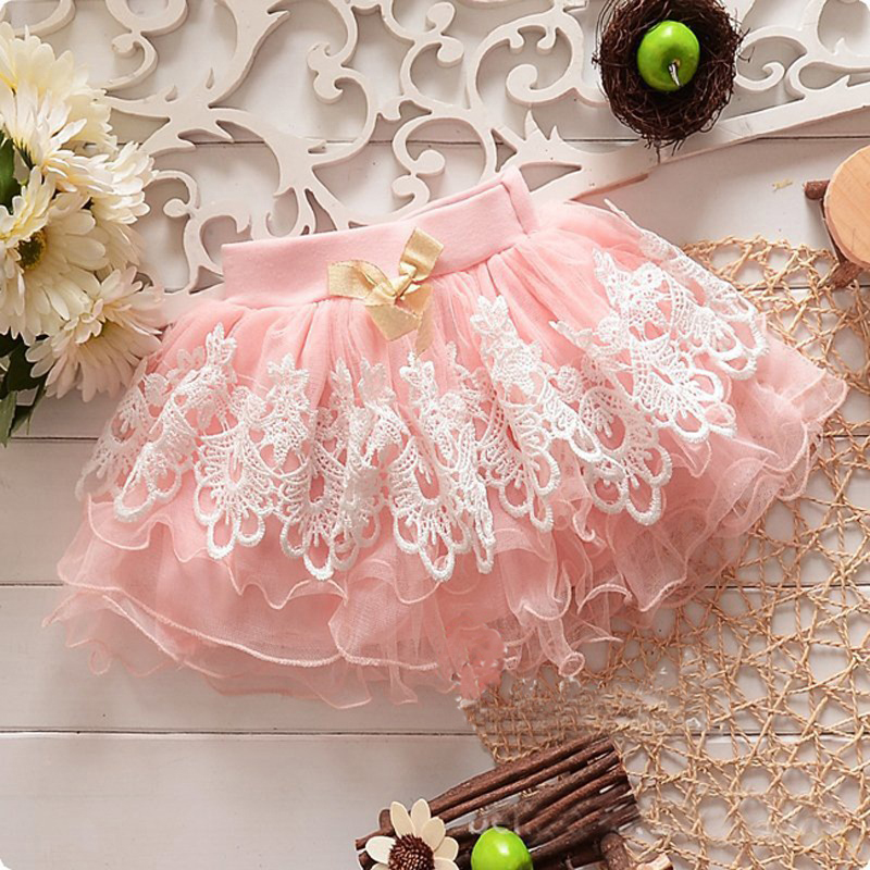 Cute Baby Girls Kid Child Toddler Floral Lace Tutu Pettiskirt Mini dress Ball Gown Dress Infant Girls Birthday Party Clothing юбка blue shells cosplay pettiskirt tutu lolita