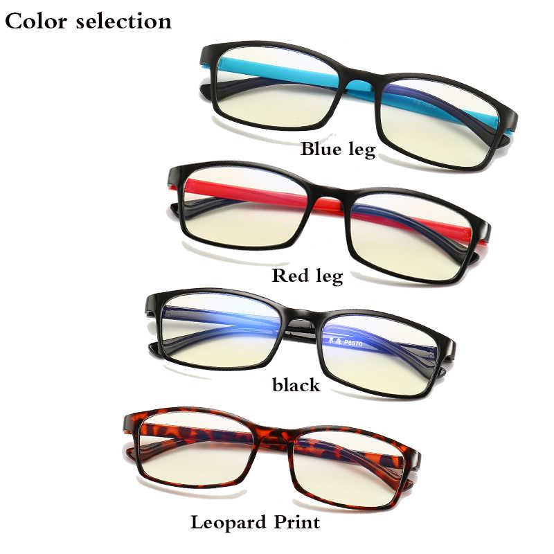 Fashion Transparan Glasses Frame Anti-Blue Light Ultra Ringan Lembut Kaki Pria dan Wanita Retro Anti-Ultraviolet permainan Filter Kaca