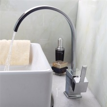 Е-пак кухонная раковина кран, смеситель для кухни, квадратный поворотный Смесители для кухни, torneira бортике одной ручкой горячей и холодной воды смесителя