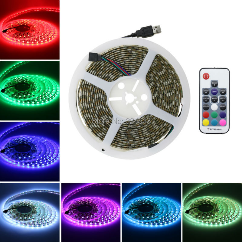 5M 16.4FT PVC RGB Waterproof 300LED Strip Lights Dimmable SMD 5050 String Lights Party Hotel Lights with Remote Control