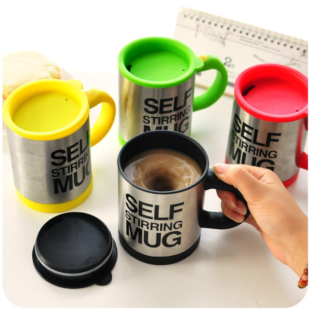 400 ML Self Stirring Mug Double Insulated Automatic Electric Coffee Cups Tea Milk Mixing Drinking Cup with Lid for Office Home Кубок