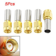 цена на Promotion!  5pcs SMA Male Plug RF Coaxial Connector Crimp For RG58 RG142 RG400 LMR195 RG223