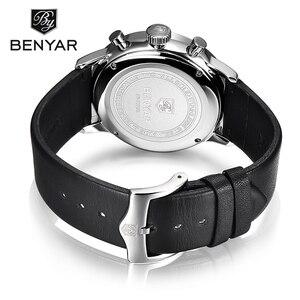 Image 5 - ساعات يد جديدة من Benyar للرجال متعددة الوظائف ساعات يد رجالي من أفضل الماركات الفاخرة ساعة رجالي رياضية كوارتز كرونوغراف للرجال