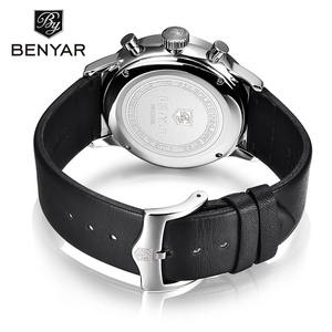 Image 5 - New Benyar Mens Watches Multi Function Wristwatches Mens Top Luxury Brand Watch Male Sport Quartz Chronograph Relogio Masculino