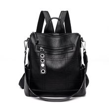 2019 New Fashion Women Bag Backpack Rucksack School Shoulder Leather Casual bag