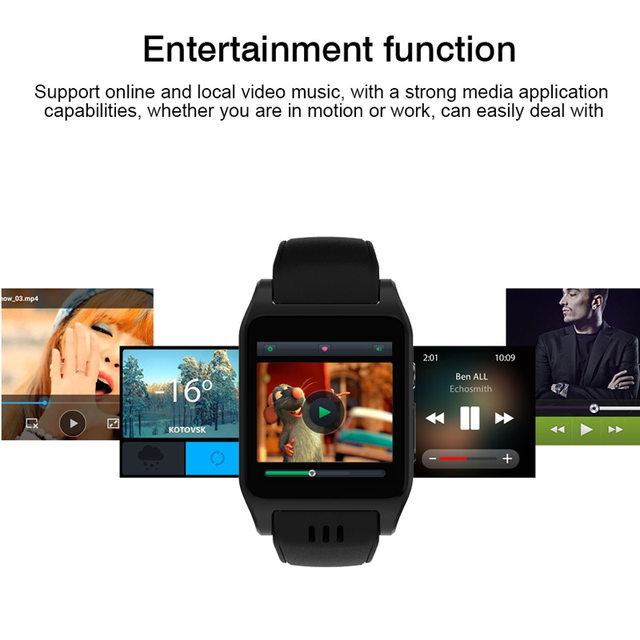 Bluetooth Smartwatch For iOS Android X86 Smart Watch Phone Android 5 1 OS  Wifi 3G 1 52 inch Touch Screen 4GB SMS Call Sync