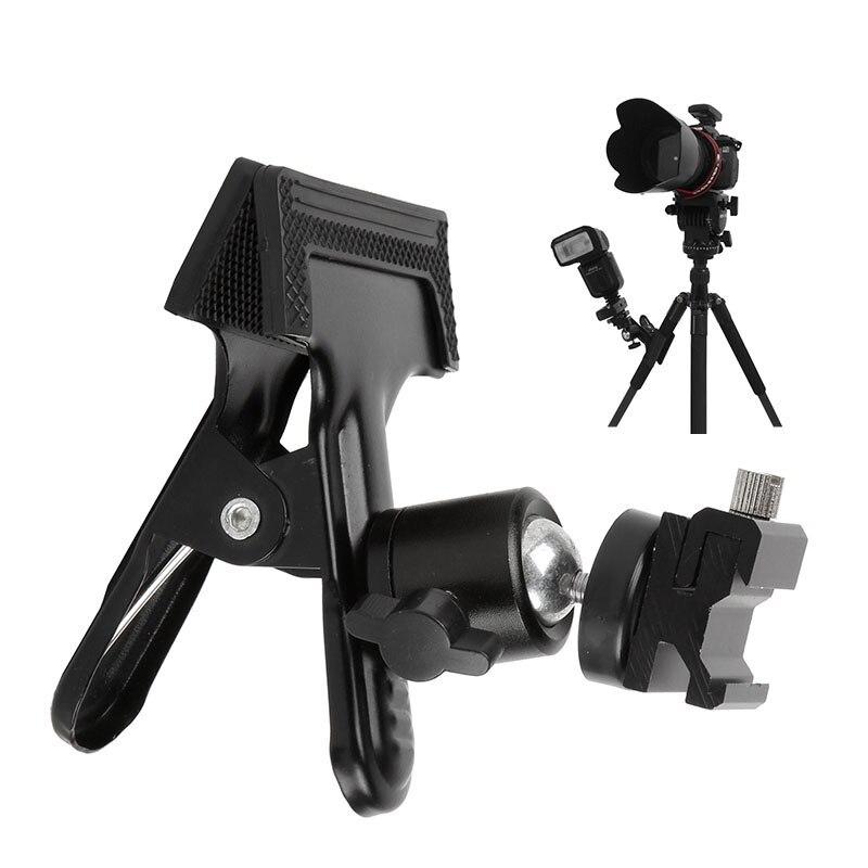 Light Stand Head Adapter: Photo Studio Photography Backdrop Clamp Tripod Ball Head