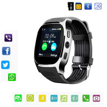 T8 Bluetooth Relógio Inteligente Suporte Max 8G TF Cartão de 2G SIM câmera Para Android ios da apple Crianças Mulheres relógio Do Telefone Com o Varejo caixa