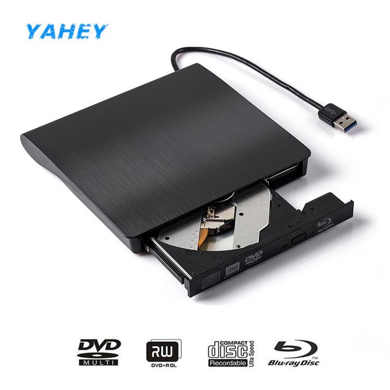 USB3.0 Bluray Drive External CD/DVD RW Burner BD-ROM 3D Optical Drive Writer slim for Laptop Desktop Windows 7/8/10 bluray player external usb 3 0 dvd drive blu ray 3d 25g 50g bd rom cd dvd rw burner writer recorder for windows 10 mac os linux