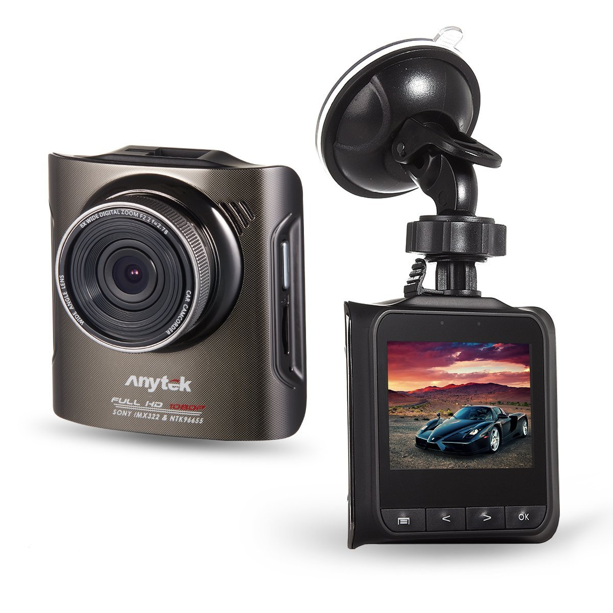 Anytek A3 Car DVR Novatek 96655 Car Camera With Sony IMX322 CMOS Super Night Vision Dash Cam Car DVR Black Box
