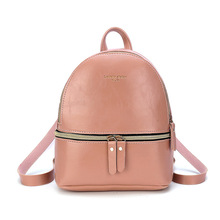 купить Fashion Women's Backpack Oil Wax Leather Shoulder Oblique Cross Hand Smart Key Holder Purses and Handbags Trend Mobile Phone Bag по цене 646.76 рублей