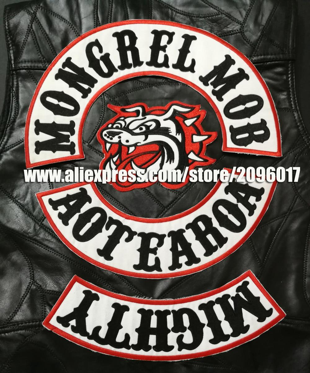 "IRON//SEW ON Custom  Biker Vest Patch NO CLUB  4/""X 1/"" RED"