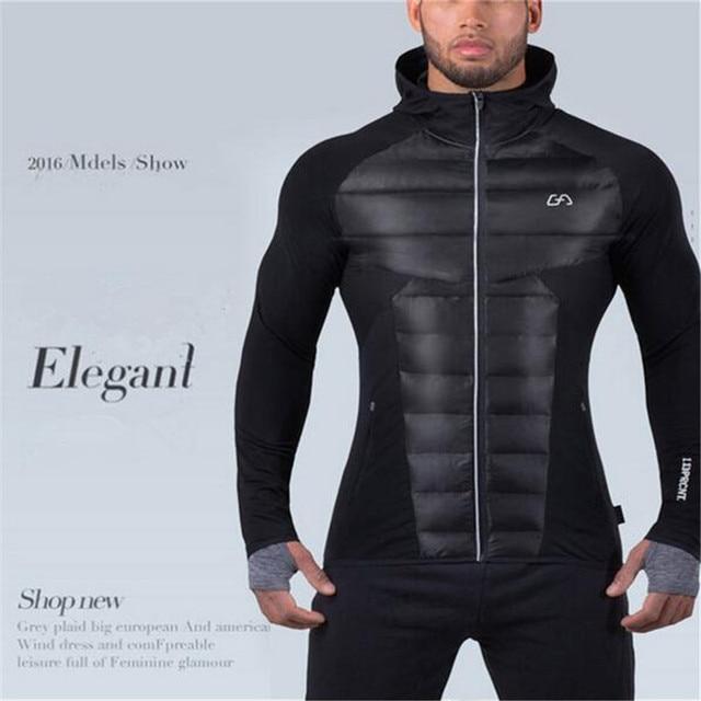 2017 New Men's Hoodies Aesthetics Revolution Fitness Hoodies sweatshirt belt Patchwork Muscle Brothers Man Hoodies Gyms Clothing