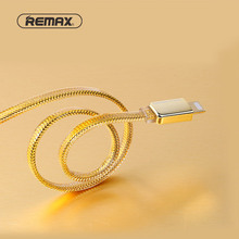 REMAX Golden RC-016 USB Data Cable For iPhone Samsung huawei HTC xiaomi Sony 2.1A Fast Charging Cable