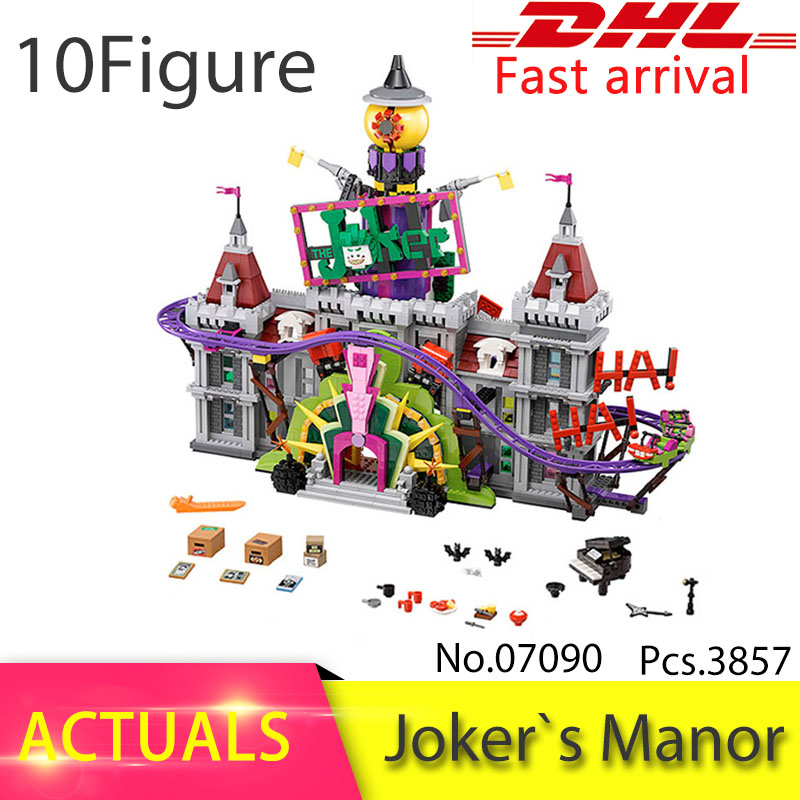 2018 NEW LEPIN 07090 3857pcs Batman super hero series  The Joker Manor Building Block Set Brick Toys For Children 70922 Gift decool 7105 dc super heroes batman the tumbler building block brick tank toys for children boy game gift compatible lepin bela