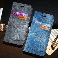 Jeans Pocket Denim Flip Cover For IPhone 6 6P 6s 6sP 7 7P 8 8P Kickstand
