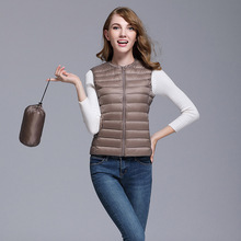 O-Neck Ultralight Down Vests Women Autumn Winter Duck Down W