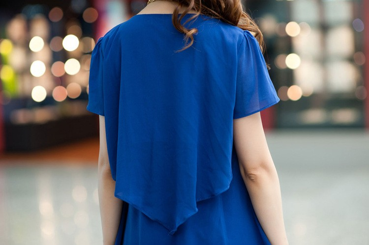 BOBOKATEER Summer Dress 17 Blue Party Dresses Women Dress Chiffon Robe Sexy Vestido De Festa 4XL 5XL Plus Size Women Clothing 17