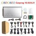 Программатор CARPROG V10.0.5/V8.21, инструменты для сброса подушек безопасности и ремонта автомобиля, Чип ECU 10,93, полный комплект из 21 адаптера, беспла...