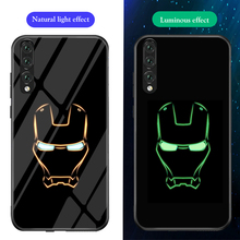 ciciber Phone Cases for Huawei P30 Lite Pro Star Wars Marvel Venom Luminous Glass Cover P20 Coque Funda Capa