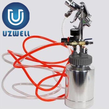 UZWELL 2LTank Spray Machine for Natural Stone sprayer Putty sprayer Multi color Paint Sprayer