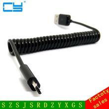 Geri çekilebilir mikro USB Şarj USB mikro USB Bahar Streç Kablo Veri Sync Şarj Kablosu Coiled Cabo